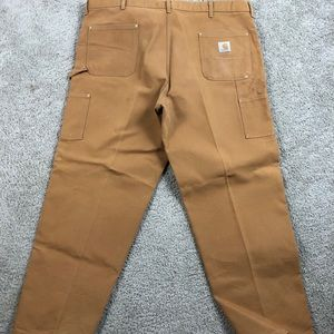 Carhartt Mens 62W Pants Tan Brown Duck Double 48
